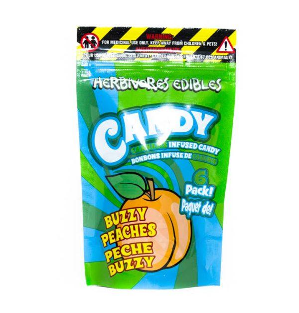 Buy HERBIVORE EDIBLES – Buzzy Peaches (150MG THC) online Canada