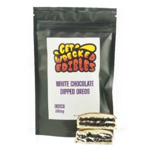 Buy Get Wrecked Edibles – White Chocolate Dipped Oreo Cookies 300mg THC (Indica) online Canada
