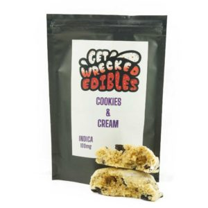 Buy Get Wrecked Edibles – Cookies and Cream Cookie 100mg THC (Indica) online Canada