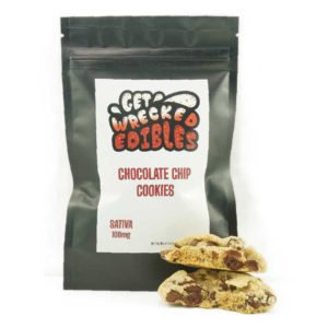 Buy Get Wrecked Edibles – Chocolate Chip Cookies 100mg THC (Sativa) online Canada