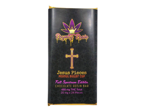 Buy Royalty Rosin THC Chocolate Bar  – Jesus Pieces Peanut Butter Cup (480MG) online Canada