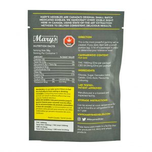 Buy Mary's Medibles Gummy Bar Ludicrous Strength 1000mg Sativa online Canada