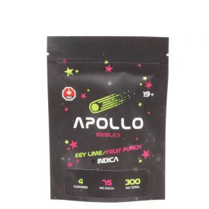 Buy Apollo Edibles – Key Lime/Fruit Punch Shooting Stars 300mg THC Indica online Canada