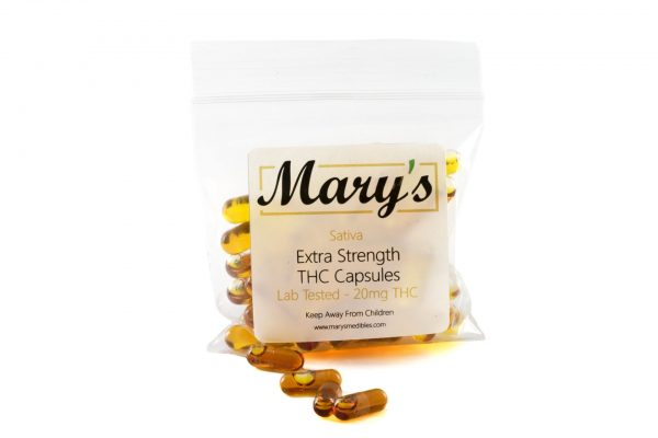 Buy Mary's Medibles THC Capsules 20mg Sativa online Canada