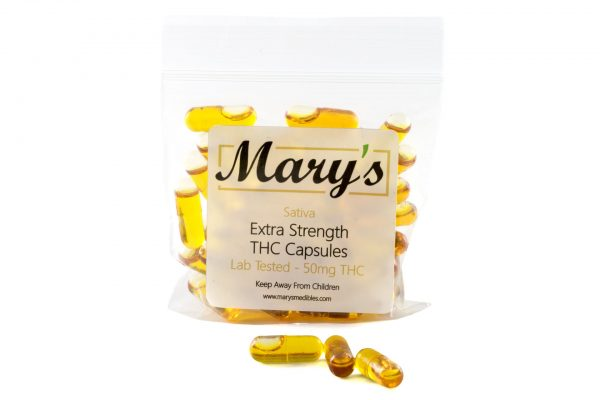Buy Mary's Medibles THC Capsules 50mg Sativa online Canada