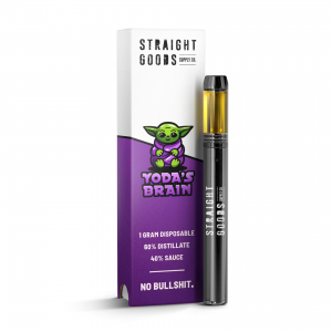 Buy Straight Goods – Yoda's Brain Disposable (Indica) online Canada