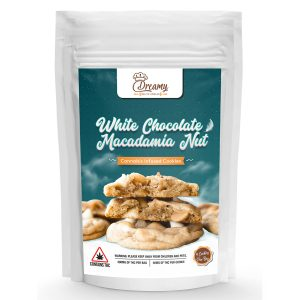 Buy Dreamy Delite's White Chocolate and Macadamia Nut Canna Cookies online Canada