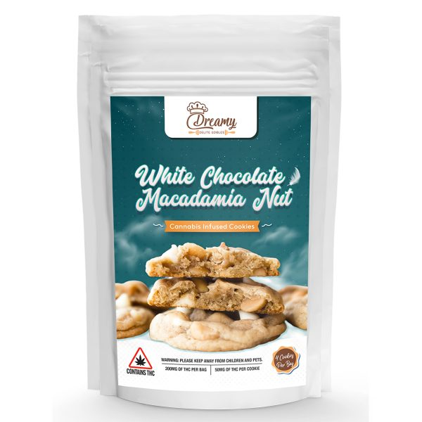 Buy Dreamy Delite White Chocolate and Macadamia Nut Canna Cookies online Canada