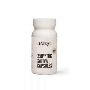 Buy Mary's Medibles THC Capsules 250mg Sativa online Canada