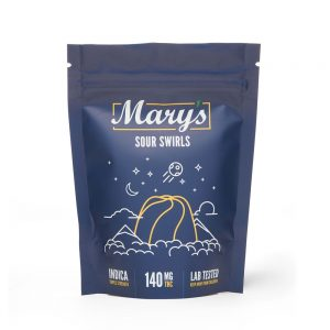 Buy Mary's Medibles Sour Swirls Triple Strength 140mg Indica online Canada