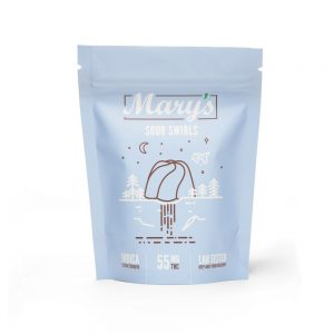 Buy Mary's Medibles Sour Swirls Extra Strength 55mg Indica online Canada