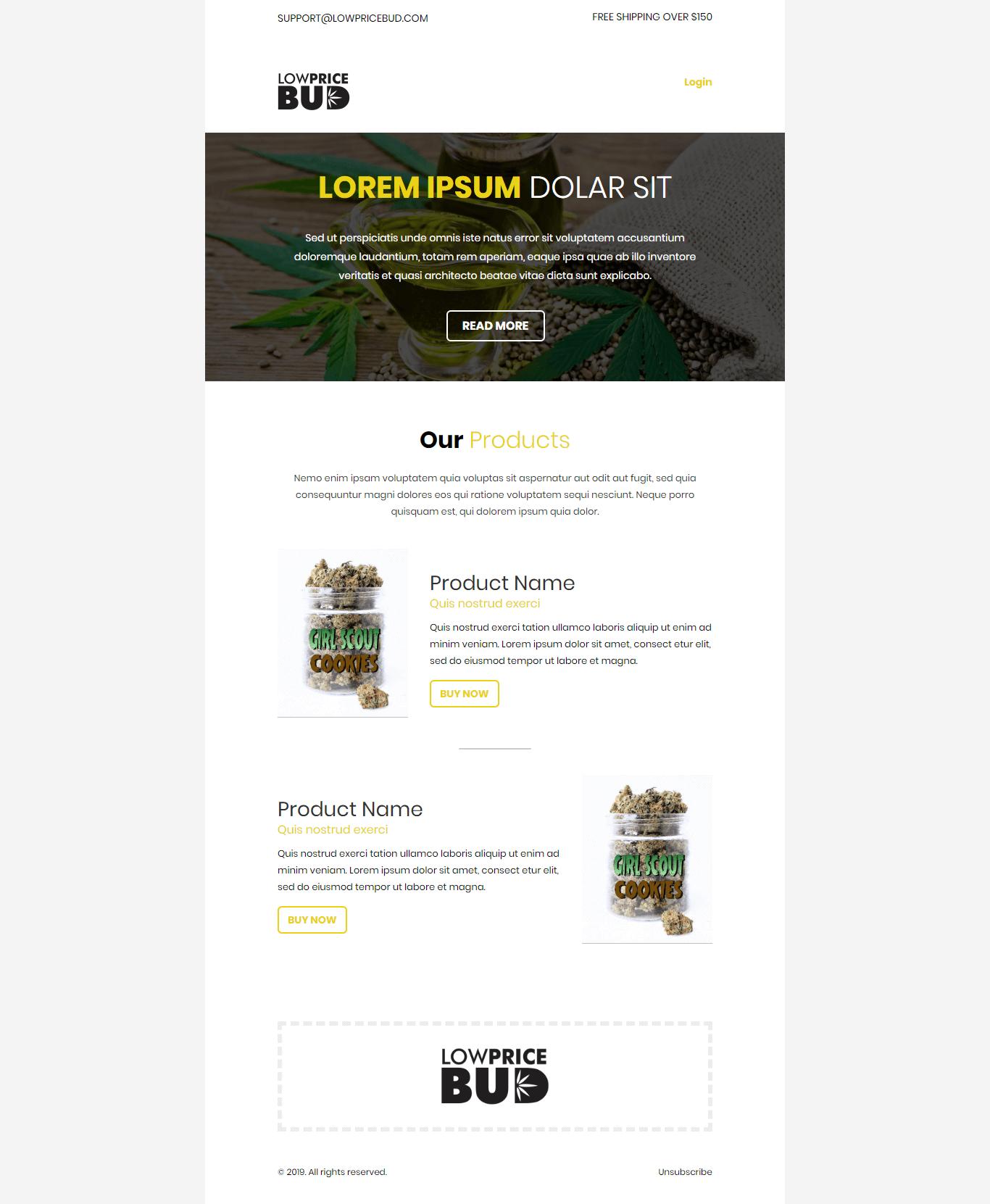 marijuana email template