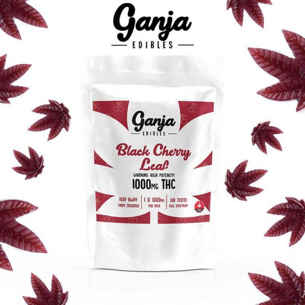Buy Ganja Leaf Black Cherry Edible – 1000 MG online Canada