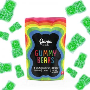 Buy Ganja Bears – Sour Apple (150MG) online Canada
