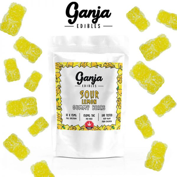 Buy Ganja Bears – Sour Lemon(150MG) online Canada