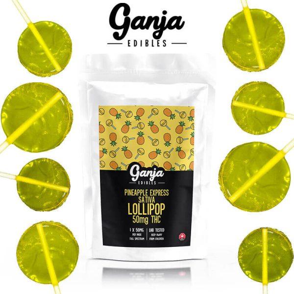 Buy Ganja Lollipop – Pineapple Sativa (50MG) online Canada