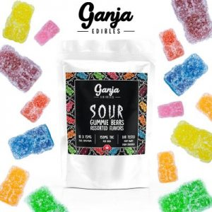 Buy Ganja Edibles – Sour Assorted Gummy Bears 150MG online Canada