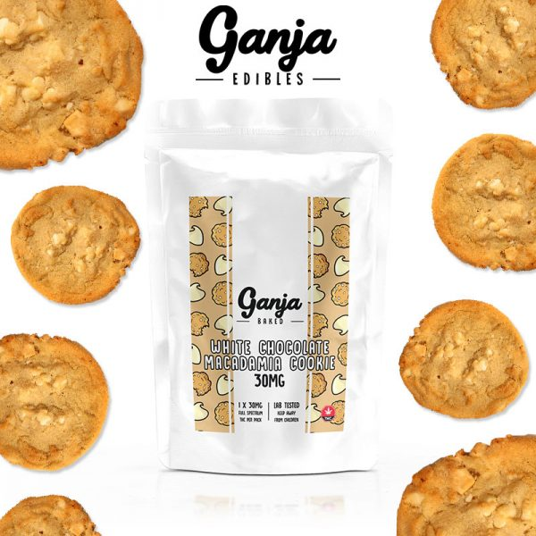 Buy Ganja Edibles – White Chocolate Macadamia Cookie 30MG online Canada