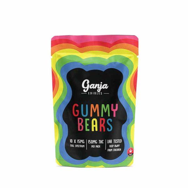 Buy Ganja Edibles – Sour Orange Gummy Bears 150MG online Canada