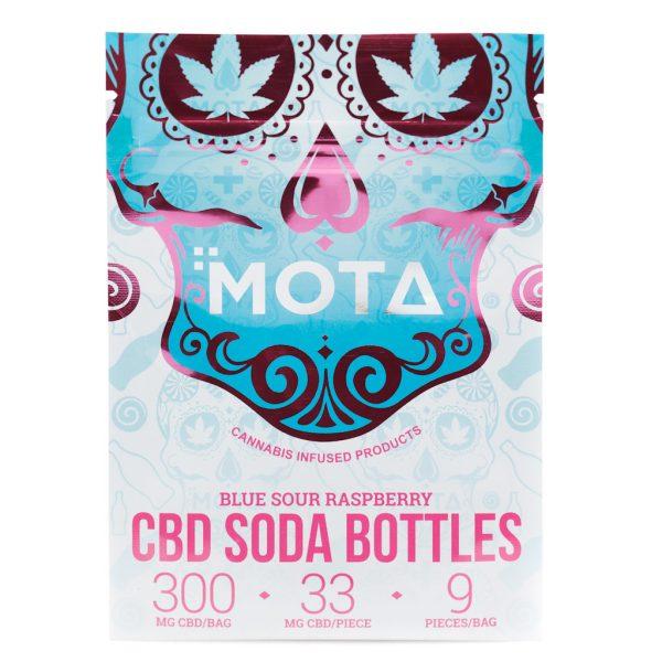 Buy MOTA – CBD Blue Raspberry Soda Bottles (300MG) online Canada