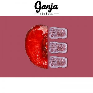 Buy Ganja Edibles – Sour Black Cherry Gummy Bears 150MG online Canada