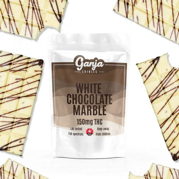Buy Ganja Baked White Chocolate Marble Bar – 150mg THC online Canada