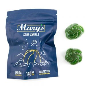 Buy MARY'S SOUR SWIRLS (140MG TRIPLE STRENGTH, INDICA) online Canada