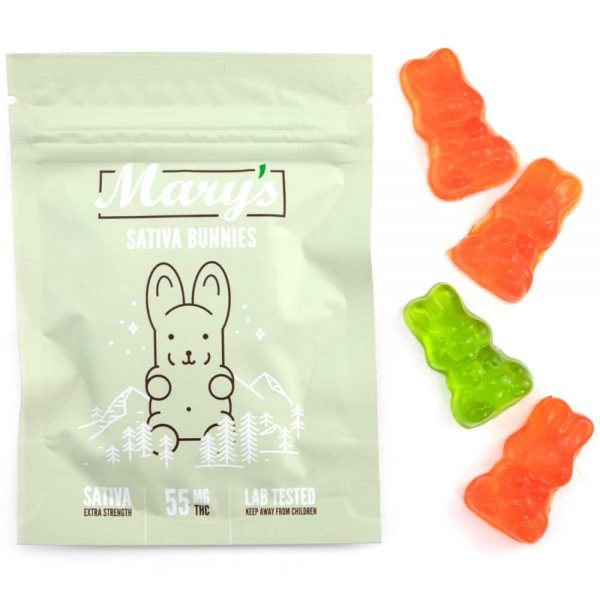 Buy Mary's Sativa Bunnies (55MG THC Extra Strength) online Canada