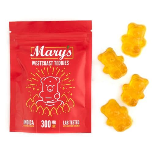 Buy Mary's West Coast Teddies Edible (300MG THC Extreme Strength, Indica) online Canada