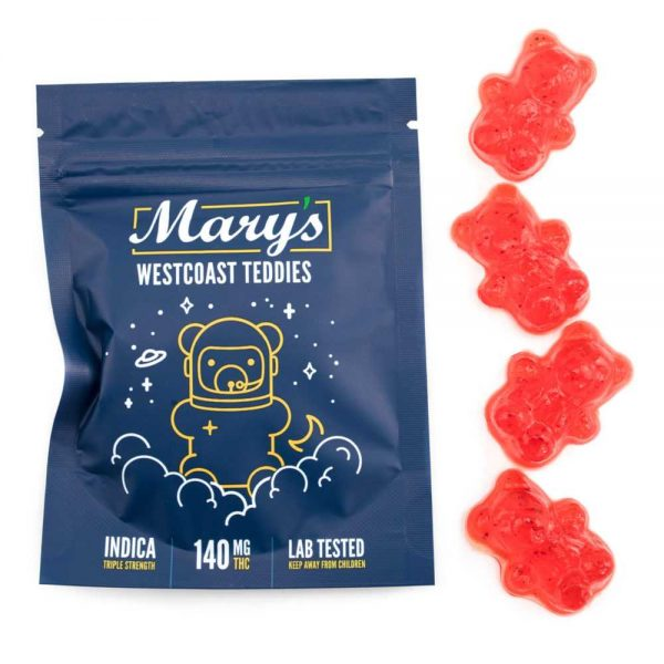 Buy MARY'S MEDIBLES – West Coast Teddies (Triple Strength 140MG THC) online Canada