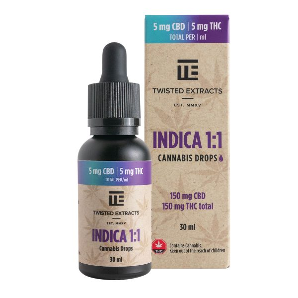 Buy Twisted Extracts Tincture – Indica 1:1 online Canada