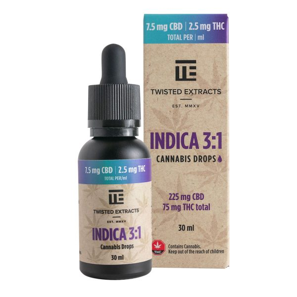 Buy Twisted Extracts Tincture – Indica 3:1 online Canada