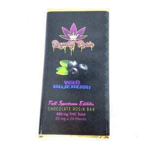 Buy Royalty Rosin THC Chocolate Bar  – Wild Blueberry (480MG THC) online Canada