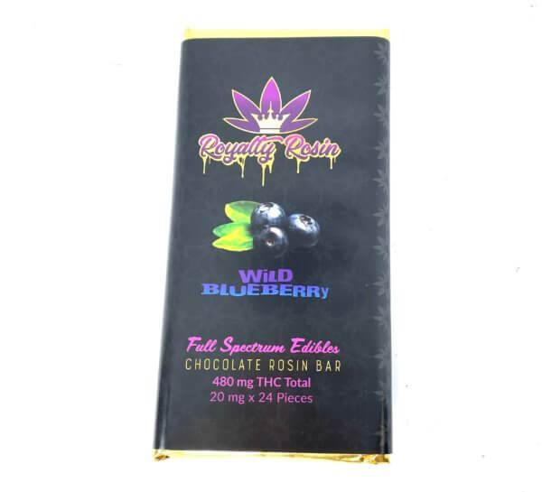 Buy Royalty Rosin THC Chocolate Bar – Wild Blueberry (480MG THC) online Canada