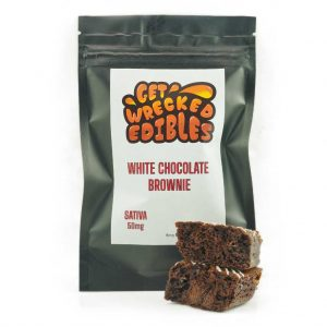 Buy Get Wrecked Edibles – White Chocolate Brownie 50mg THC (Sativa) online Canada