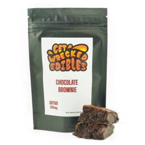 Buy Get Wrecked Edibles – Chocolate Brownie 300mg THC (Sativa) online Canada