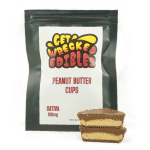 Buy Get Wrecked Edibles – Peanut Butter Cup 100mg THC (Sativa) online Canada