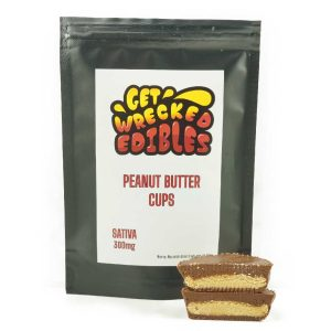 Buy Get Wrecked Edibles – Peanut Butter Cup 300mg THC (Sativa) online Canada