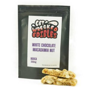 Buy Get Wrecked Edibles – White Chocolate Macadamia Nut Cookie 300mg THC (Indica) online Canada