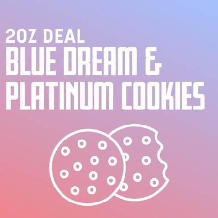 Buy 2 OZ BLUE DREAM X PLATINUM COOKIES DEAL online Canada