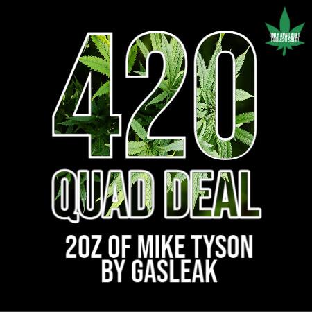 Buy 420 QUAD DEAL – 2 OZ MIKE TYSON BY GASLEAK (INCLUDES FREE GASLEAK GRINDER) online Canada