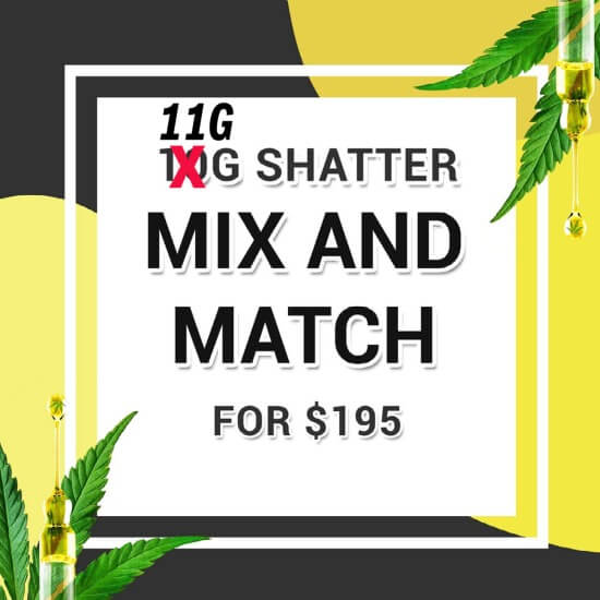Buy 11G SHATTER MIX & MATCH online Canada