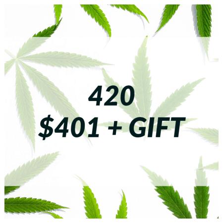 Buy 420 SALE  – $401+ GIFT online Canada