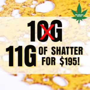 Buy 11G SHATTER FOR $195 online Canada