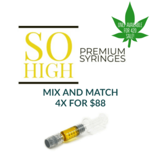 Buy SO HIGH DISTILLATE SYRINGES – 4 FOR $88 online Canada