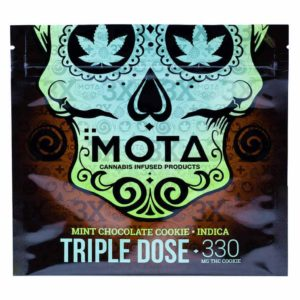 Buy MOTA Triple Dose Chocolate Mint Indica Cookie (330MG THC) online Canada