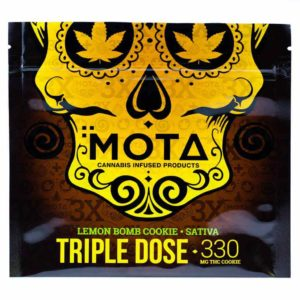 Buy MOTA Triple Dose Lemon Sativa Cookie (330MG THC) online Canada