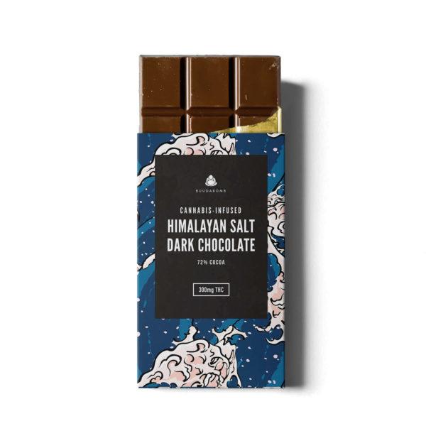 Buy BUUDABOMB – HIMALAYAN SALT DARK CHOCOLATE (300MG THC) online Canada