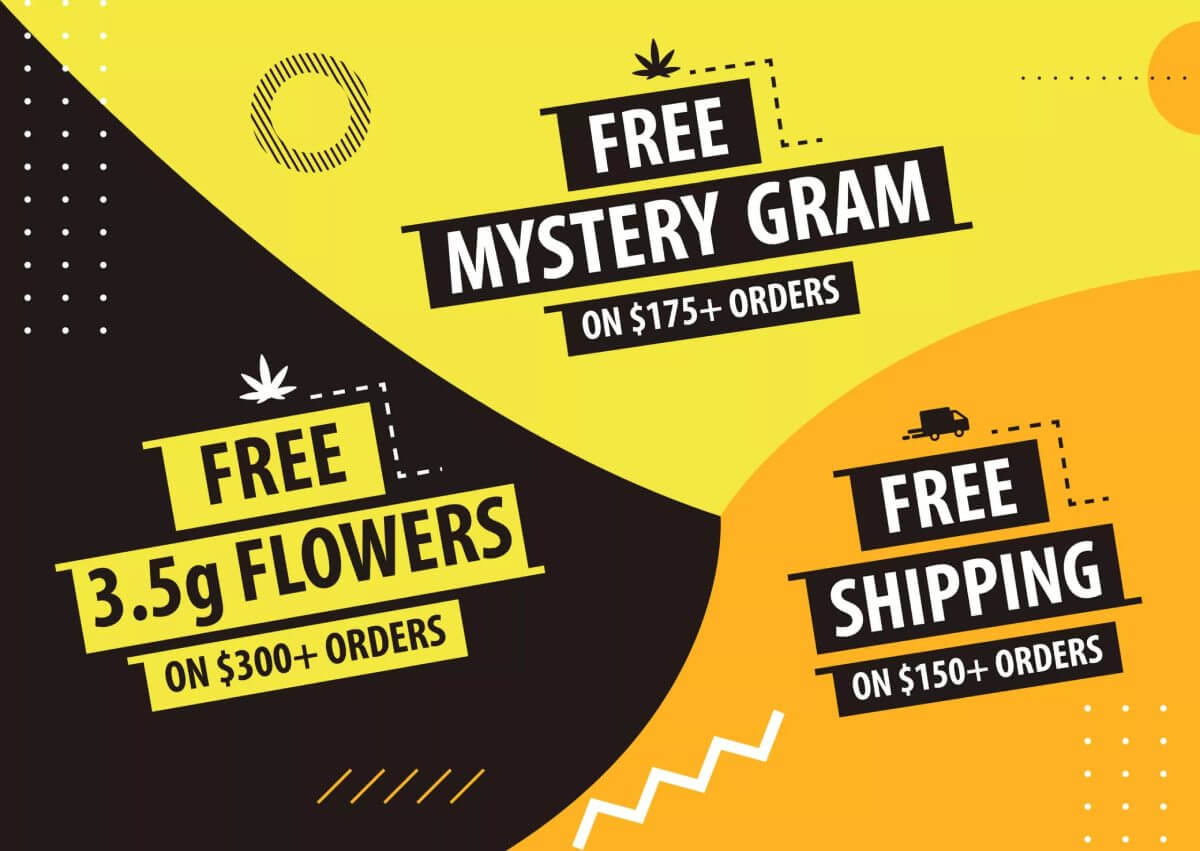 free shipping on cannabis purchase
