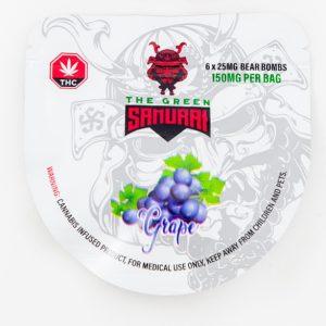 Buy The Green Samurai – Grape Bear Bombs 150mg THC online Canada